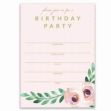 Bday Party Invites Pink Birthday Party Invitations Delicate Modern Floral
