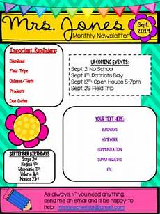 Editable Classroom Newsletter Classroom Newsletter Template Editable By Miss Teacherista