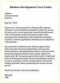 Cover Letter For Business Development Manager 3 Free Printable Business Development Cover Letter Templates