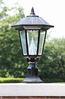 Led Outdoor Post Light Fixtures Gama Sonic Windsor Outdoor Solar Light Gs 99f On Its Pier