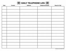 Call Log Template For Excel Top 5 Resources To Get Free Call Log Templates Word