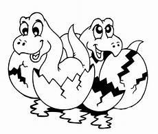 ausmalbild dinosaurier und steinzeit zwei dinobabies