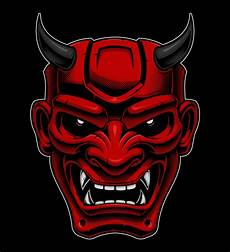 Demon Mask Designs Japanese Demon Mask Download Free Vectors Clipart