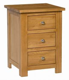 oak 3 drawer bedside table ideal for storage in any home