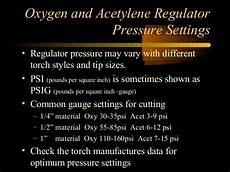 Oxy Acetylene Cutting Torch Settings Chart Oxy Acetylene