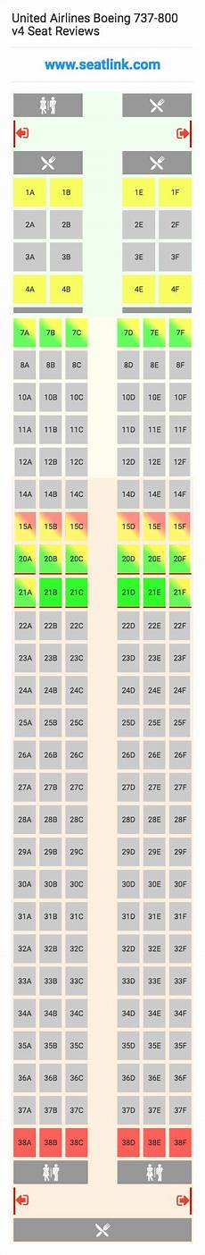 United Airlines Boeing 737 Seating Chart United Airlines Boeing 737 800 V4 Seating Chart Updated