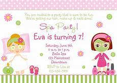Bday Party Invites Free Spa Party Invitations Printables Girls Invitetown