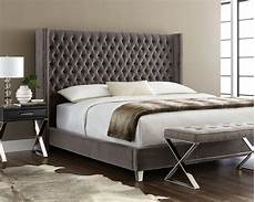 mcallen giotto gray king upholstered platform bed 100858