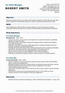 Auto Dealership Sales Manager Resume 20 Automobile Sales Manager Resume