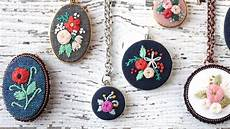 embroidery necklaces how to put embroidery in a necklace