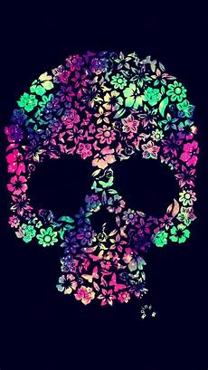 floral skull iphone wallpaper flower skull galaxy iphone android wallpaper i created for