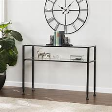 distressed black metal sofa table consoles entry