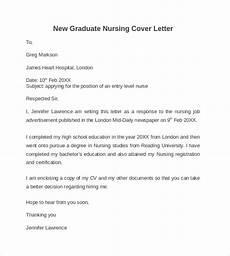 New Graduate Nursing Cover Letter Samples Free 10 Nursing Cover Letter Templates In Pdf Ms Word