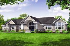 Storey Floor Plans Sprawling One Story House Plan With Vaulted Great Room