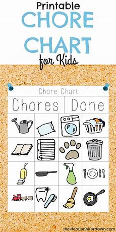 Chore Chart Pictures Printable Chore Chart For Kids That Is Fun And Interactive