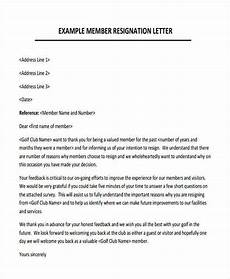 Club Resignation Letter Membership Resignation Letters Template 12 Free Word
