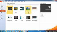 Create A New Powerpoint Template Microsoft Powerpoint 2010 Create New Blank Presentation Or