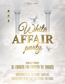 Free All White Party Flyer Template White Affair Party Flyer Poster