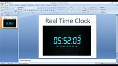 Digital Timer Powerpoint How To Embed Real Time Clock In Power Point Presentation