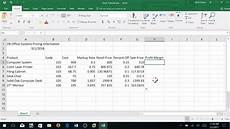Sales Reports Excel Creating A Sales Report In Excel Basic Level Youtube