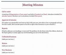 Standard Meeting Minutes 15 Best Meeting Minutes Templates To Save Time