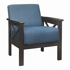 1105bu 1 accent chair x arm blue 100 polyester