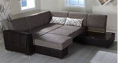 brown fabric leatherette base convertible sectional sofa bed