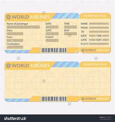 Blank Airline Ticket Template Airline Or Plane Ticket Template Boarding Pass Blank And