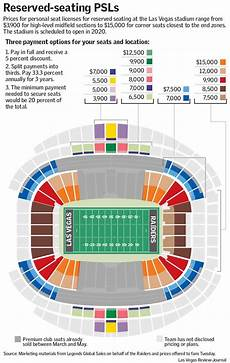 Las Vegas Raiders Stadium Seating Chart Las Vegas Raiders Stadium Reserved Seating Psls To Cost