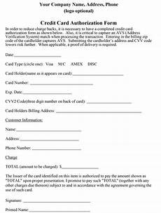 Credit Card Charge Authorization How To Properly Craft A Credit Card Authorization Form