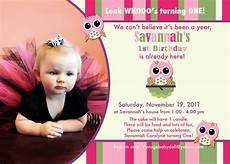Baby Birthday Party Invitations Owl 1st Birthday Invitations Ideas Bagvania