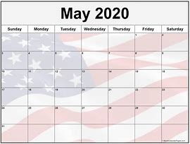Image result for may 2020 calendar