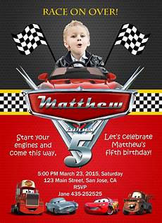 Cars Birthday Invites Pin By Birthday Invite On Birthday Invitation Cards Cars