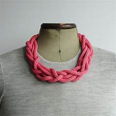 knit necklaces knitted necklace spool knitting