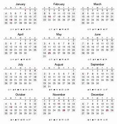 Month By Month Calendar 2015 12 Months Of The Year