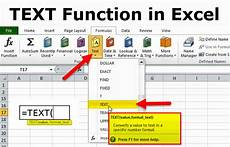 Excel Function Definition Text Function Formula Examples How To Use Text