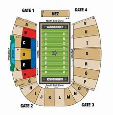 Vanderbilt Stadium Seating Chart View Vanderbilt Stadium Seating Brokeasshome Com
