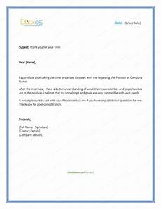 Examples Of Thank You Letters After An Interview Sample Thank You Letter After Interview 5 Plus Best