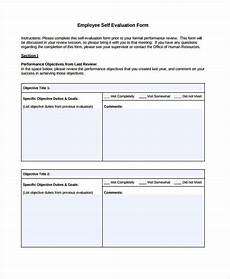Free Printable Employee Evaluation Template Free 8 Employee Self Evaluation Forms In Pdf Ms Word