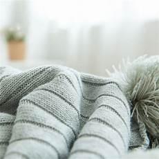 pom pom cotton throw blanket voguenest