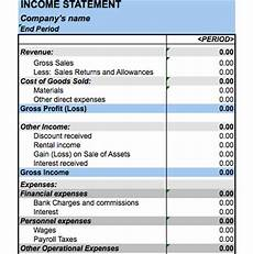 Income Statement Example Excel Income Statement Template