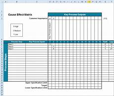 Cause And Effect Diagram Template Excel Cause Effect Analysis Cause Effect Template Excel
