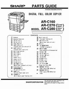 Sharp Ar C160 Ar C270 Ar C280 Service Manual Download