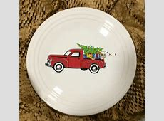 Fiesta® 'Belk Christmas Truck' Luncheon Plate features a
