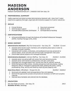 Skills For Administrative Assistant Professional Administrative Assistant Resume Examples