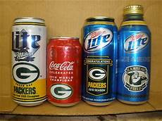 Bud Light Vikings Can 3 Green Bay Packers Cans 1 Soda Can Antique