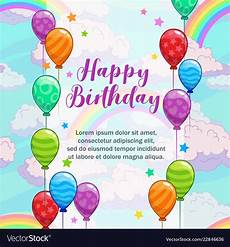 Birthday Greeting Word Happy Birthday Greetings Greeting Card With Vector Image