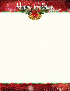 Holiday Letterhead Free Download Christmas Letterhead Happy Holiday Bells Holiday