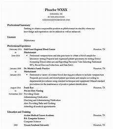 Phlebotomist Duties Resume Phlebotomist Resume Sample Nursing Resumes Livecareer