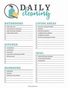 Printable Cleaning Schedule Template Printable Cleaning Checklists For Daily Weekly And